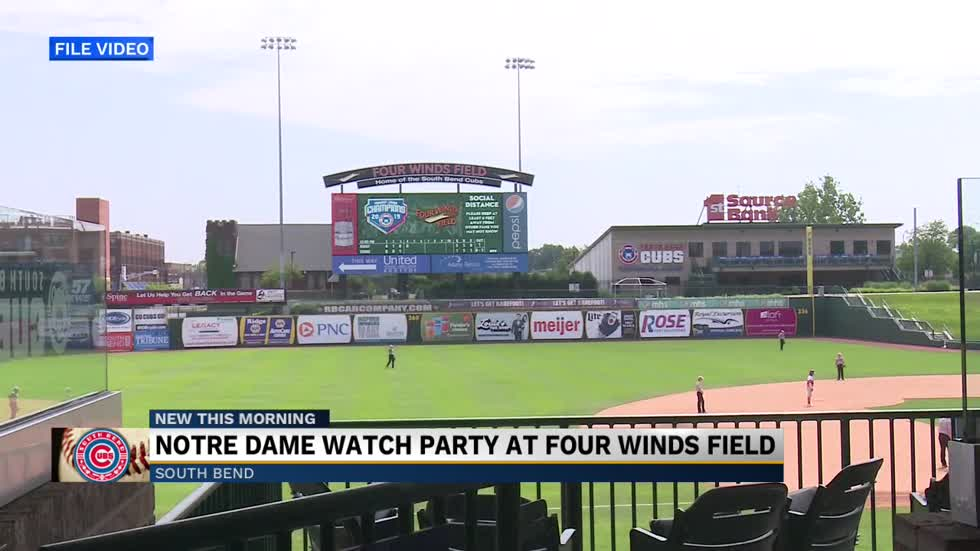 Notre Dame watch party at Four Winds Field